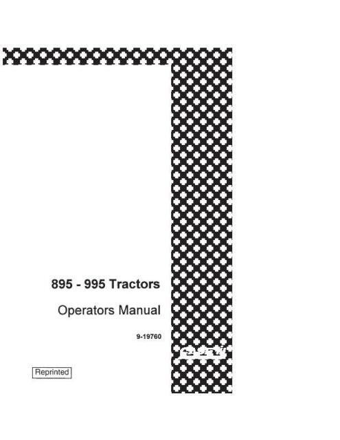 CASE IH 895,995 TRACTOR W/CARRARO MFD AXEL OM COMPLETE