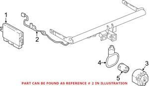 Genuine OEM Trailer Tow Harness for Volkswagen 3CN971124B