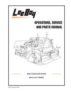 New LeeBoy 8500 Conveyor Paver Operation Operators Service