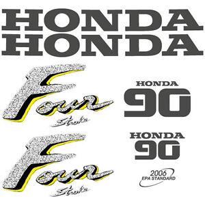 Honda 90 four stroke outboard decal adesivo aufkleber