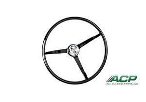 1965-1966 Ford Mustang Standard Steering Wheel Black New