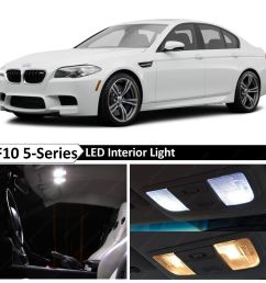 details about white interior led light package for 2011 2015 bmw 5 series m5 535i 550i f10 [ 1600 x 1600 Pixel ]