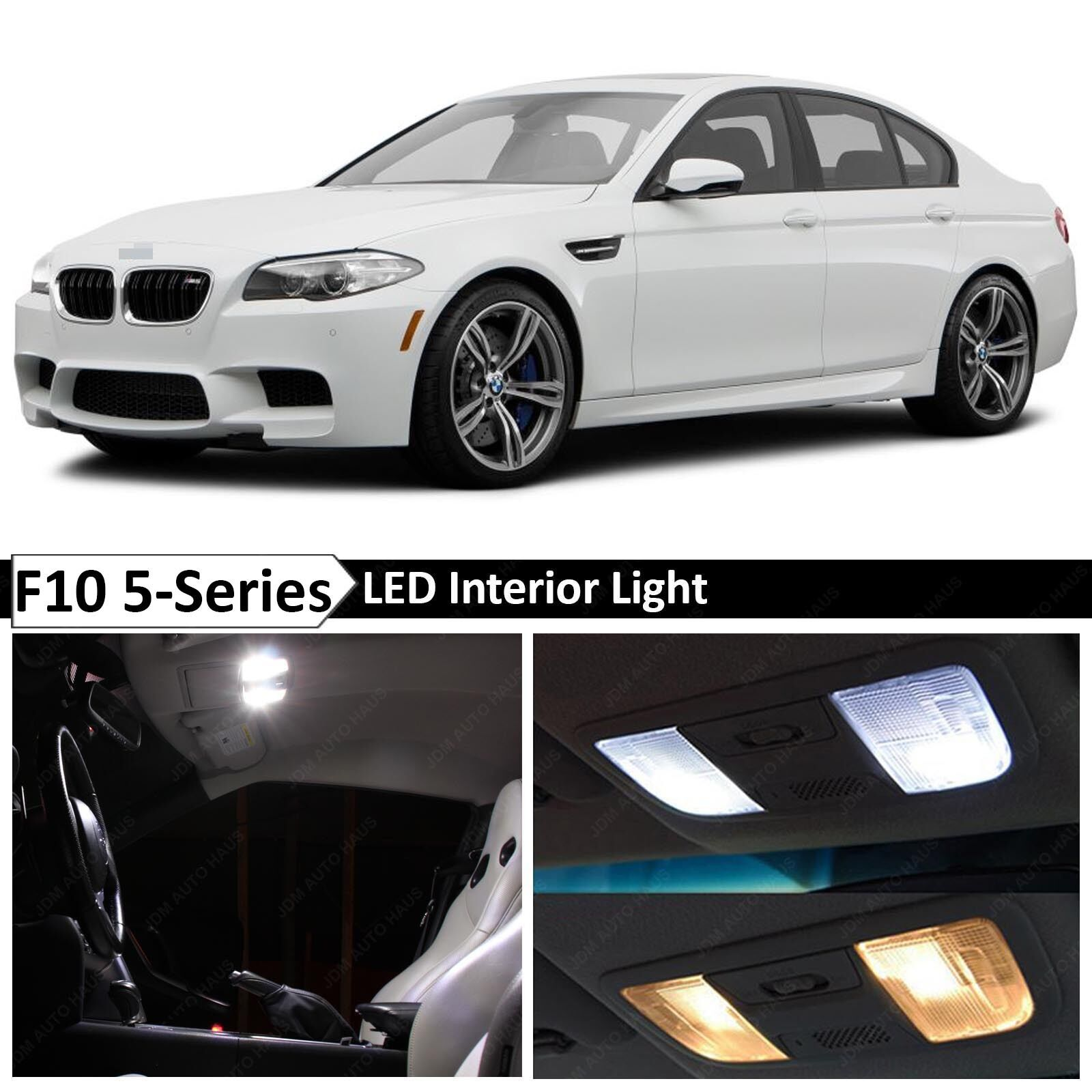 hight resolution of details about white interior led light package for 2011 2015 bmw 5 series m5 535i 550i f10