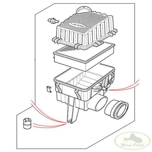 LAND ROVER AIR CLEANER FILTER BOX ASSY RANGE P38 V8 97-98