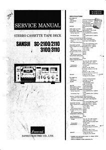 Service Manual Manual for Sansui SC-2100,SC-2110,SC-3100