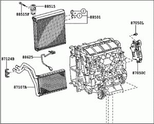 GENUINE TOYOTA HILUX REVO part number 87050-0KD40 RADIATOR