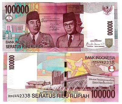 Indonesia indonesia 100000 100.000 rupia 2009/2004 UNC p 146 F (2) | eBay