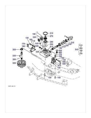 New OEM Kubota Gearbox Repair Kit K5361-33100 K5361-33103