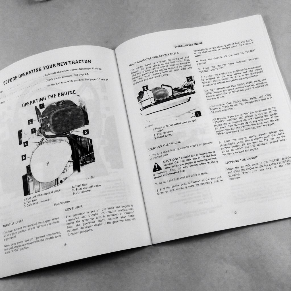 hight resolution of lot international cub cadet 1450 service and operator manuals owners repair ihc for sale online ebay