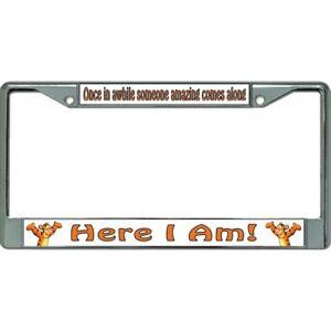 here i am tigger winnie the pooh disney cartoon license plate frame usa made | eBay