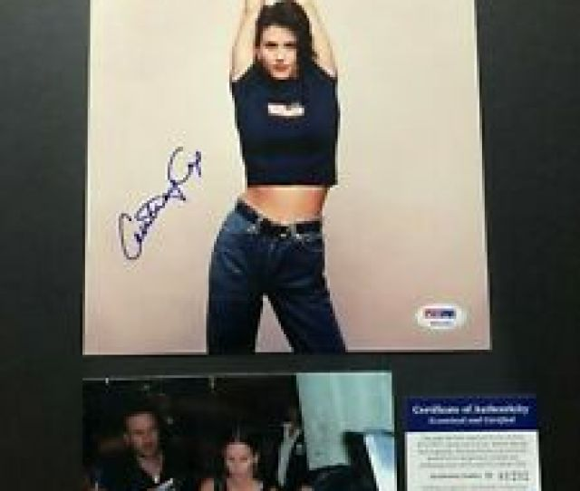 Image Is Loading Courteney Cox Hot Signed Autographed Sexy Friends 8x10