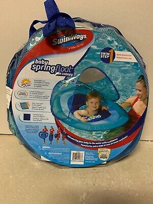 Swimways Baby Spring Float With Canopy Blue With Ducks : swimways, spring, float, canopy, ducks, SwimWays, Spring, Float, Canopy, Months, 795861115863