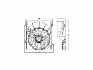 Radiator Fan Assembly For 2008-2012 Jeep Liberty 2010 2009