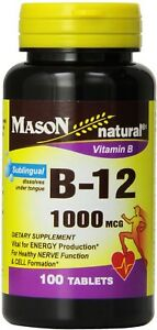 Mason Vitamins B-12 1000 mcg Sublingual Cyanocobalamin ...