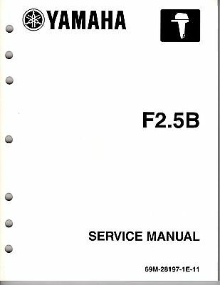 2003 YAMAHA OUTBOARD SERVICE MANUAL F2.5B FOUR STROKE