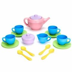 Kids Kitchen Toys Contemporary Rugs Green Tea01r Tea Set Pretend Play For Indoor Image Is Loading