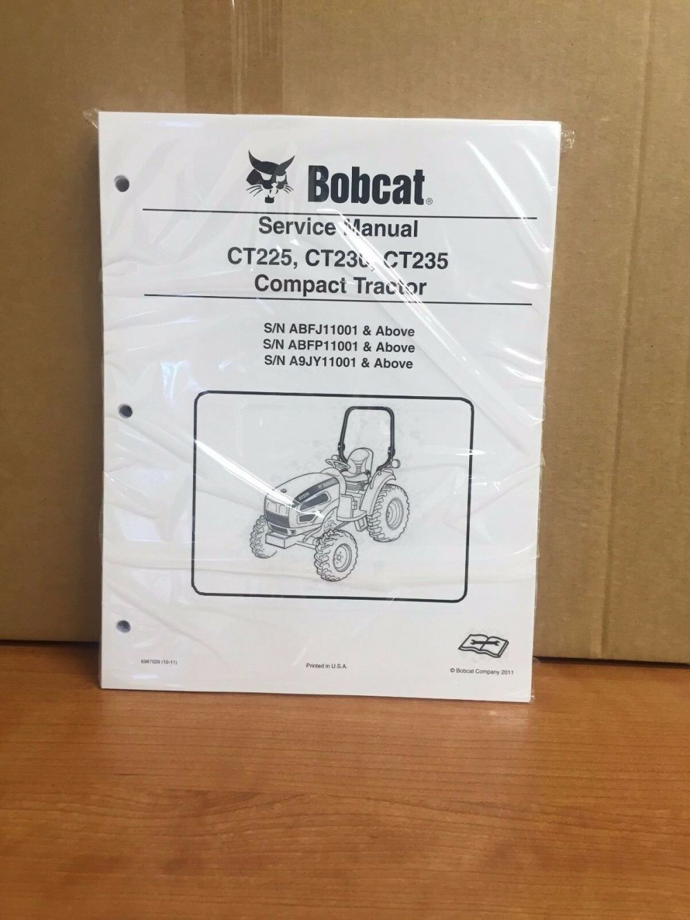 medium resolution of bobcat ct225 ct230 ct235 compact tractor service manual shop repair book 6987029 for sale online ebay
