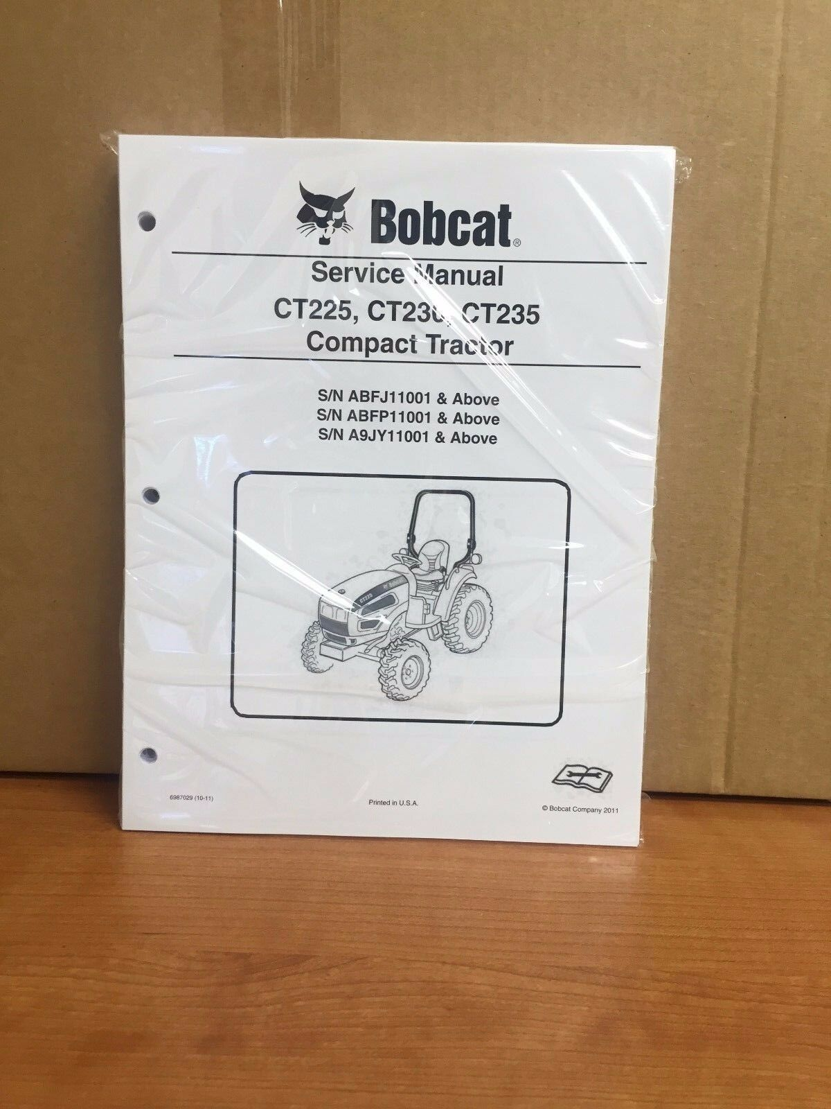 hight resolution of bobcat ct225 ct230 ct235 compact tractor service manual shop repair book 6987029 for sale online ebay