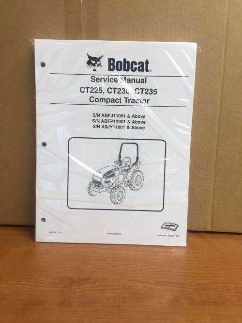 small resolution of bobcat ct225 ct230 ct235 compact tractor service manual shop repair book 6987029 for sale online ebay