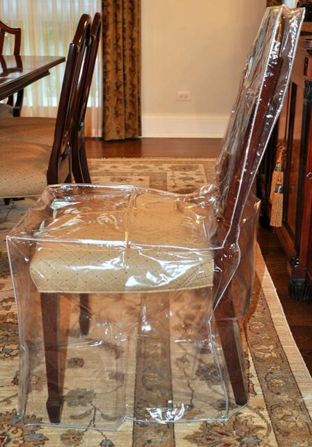 dining room chair covers ebay wedding aliexpress furniture protector heavy duty glass clear vinyl plastic cover