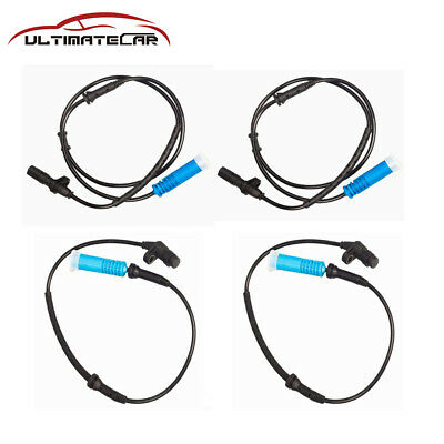 4Pcs Front+Rear ABS Wheel Speed Sensors For BMW 740i 740iL