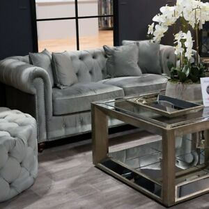 details about large augustus mirrored coffee table