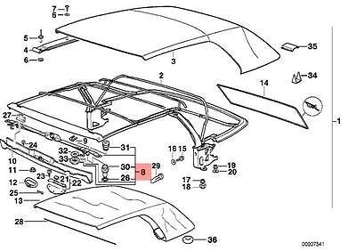 Genuine BMW E36 Cabrio Convertible Folding Top Lock OEM