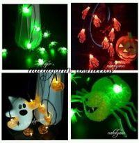 Halloween LED String Lights Pumpkins Spiders Skeleton ...