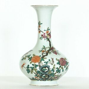 A Beautiful Chinese Famille-Rose Porcelain Vase
