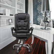 Recliner Office Chair Armrest Footrest Swivel Computer