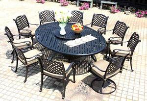 details about patio dining set cast aluminum outdoor nassau furniture 12 piece all weather