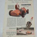 Champion Spark Plug W Signor Ferrari Car Vintage Print Ad 1952 Ephemera Auto Ebay