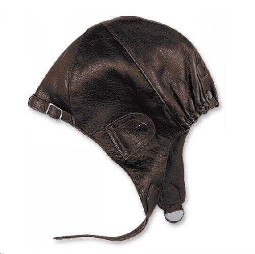 held aviateur capot brun antique taille xxl oldtimer chapeau de en cuir cabrio ebay