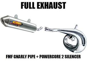 FMF GNARLY FULL PIPE EXHAUST AND POWERCORE 2 SILENCER 91