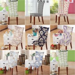 Stretch Dining Chair Covers Bungee For Kids Protector Slipcover Table Home Image Is Loading