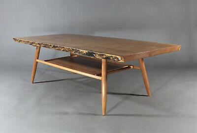 live edge cherry slab coffee table nakashima mccobb wegner mid century style ebay