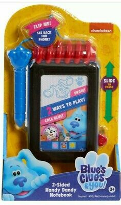 Blue's Clues Notebook Phone : blue's, clues, notebook, phone, Blues, Clues, Sided, Handy, Dandy, Notebook