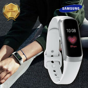 Samsung Galaxy Fit SM-R370 Silver Smart Fitness Tracker w/ Original White Band