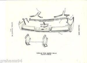 1948 1949 1950 1951 1952 1953 Cadillac Rear Bumper NOS