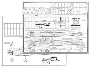 Carl Goldberg Eaglet 50 Full Size Balsa Model Airplane Kit