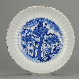 Antique Chinese Porcelain 17C Porcelain Ming Wanli Kraak Tree Prunus Bam...