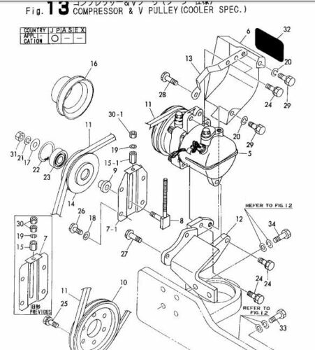 YANMAR Excavator B50-2B Parts Manual Grey Market Excavator