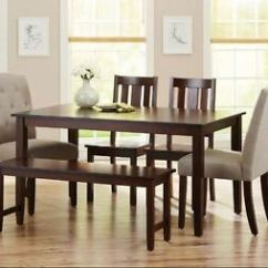 Parson Chairs Sedan Chair Rental 5dining Table Set 6 Piece Bench Kitchen Wooden Image Is Loading
