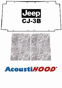 1955 1972 Jeep CJ 2/3 Under Hood Cover with J-023 JEEP CJ