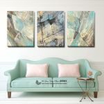 Set Of 3 Abstract Stretched Canvas Prints Framed Wall Art Home Decor Painting Ebay