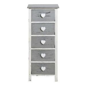 details sur rebecca mobili meuble de rangement chambre 5 tiroirs salle gris