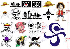 Cosplay Tattoo One Piece D Luffy Chopper Nami Robin Straw Hat Body