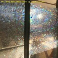 3D Decorative Window Film Clear Stained Glass Rainbow ...