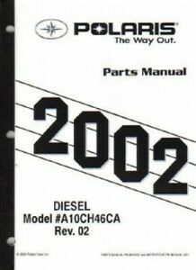 2001 Polaris Diesel 455 4X4 Series 10 Parts Manual