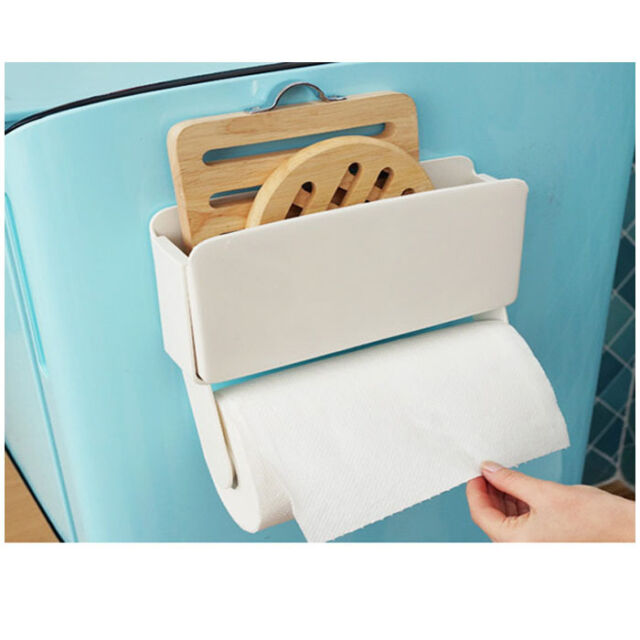 kitchen towel hanger 3 light island pendant paper holder storage rack magnetic wall mount made new magnet refrigerator
